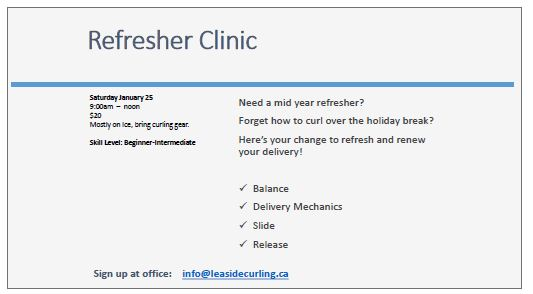 Refresher clinic Jan 25
