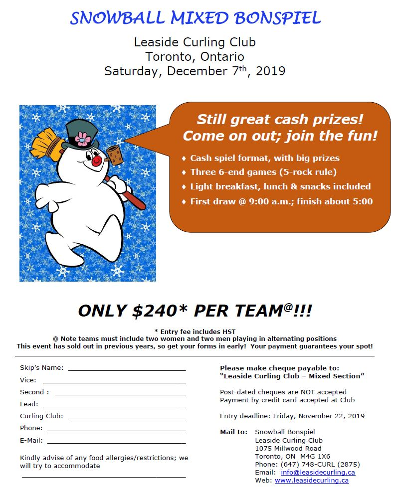 Snowball 2019 registration